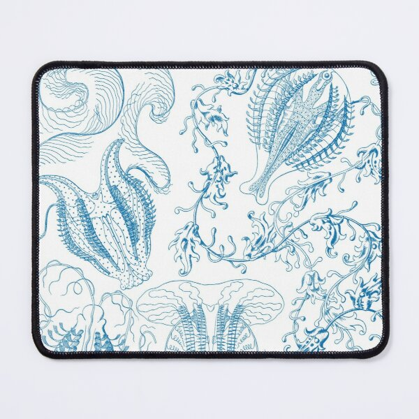 Micro Nature no 6- Blue on White background Mouse Pad