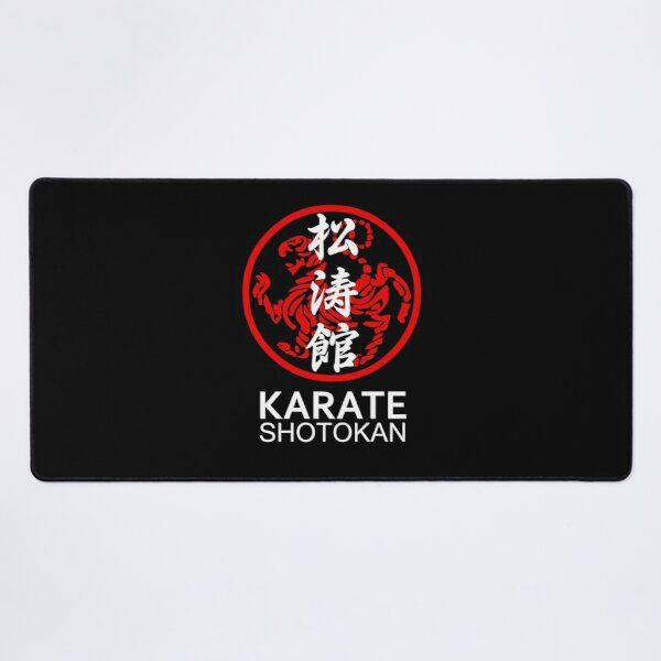 Shotokan Karate Symbol and Kanji White Text Desk Mat