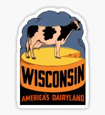 Wisconsin State Vintage Travel Decal Sticker