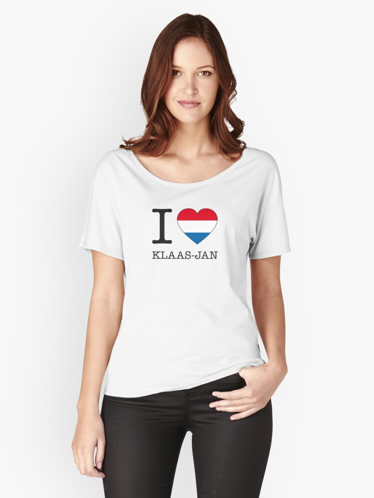 I ♥ KLAAS-JAN Women's Relaxed Fit T-Shirt Front