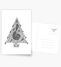 Musical Tree Postcards