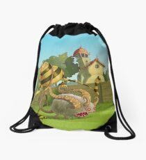 Garden monsters Drawstring Bag