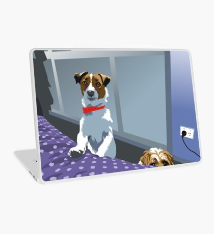 so ... are we allowed on the bed or not?! Laptop Skin