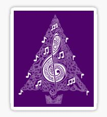 Purple Musical Tree Sticker