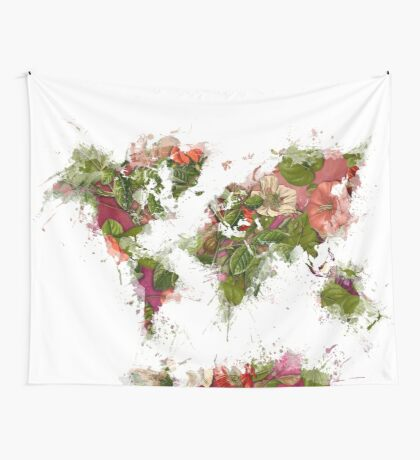 World Map 2049 Wall Tapestry