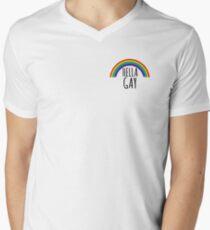 Hella Gay Men's V-Neck T-Shirt