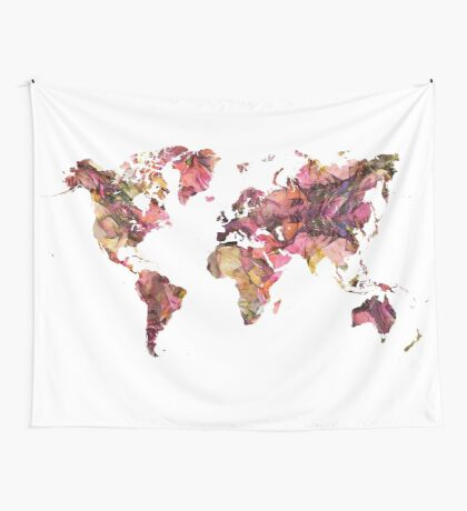 World Map 2033 Wall Tapestry