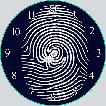 Fingerprint Octopus Clock by Sami-Djebli