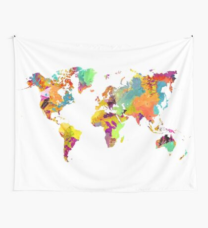 world map color Wall Tapestry