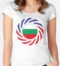 Bulgarian American Multinational Patriot Flag Series Women's Fitted Scoop T-Shirt