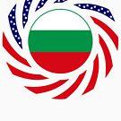 Bulgarian American Multinational Patriot Flag Series by Carbon-Fibre Media