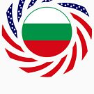 Bulgarian American Multinational Patriot Flag Series by Carbon-Fibre Media