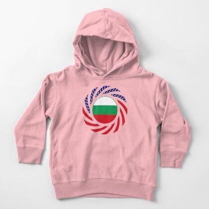 Bulgarian American Multinational Patriot Flag Series Toddler Pullover Hoodie