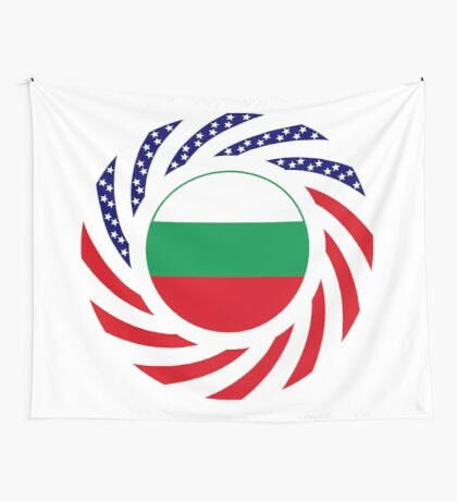 Bulgarian American Multinational Patriot Flag Series Wall Tapestry