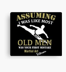 Martial Art Veteran Canvas Print