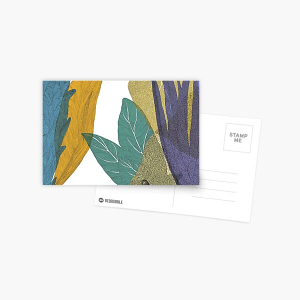 Colorful leaves forest Postcard