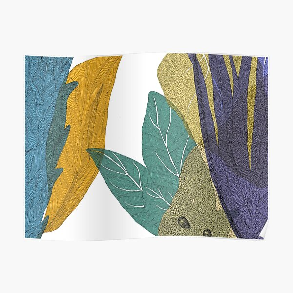 Colorful leaves forest Poster