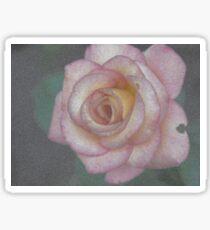 Single Pink Rose Sticker