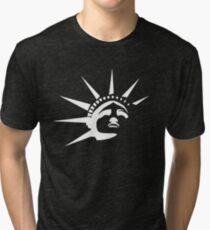 Lady Liberty - White Tri-blend T-Shirt
