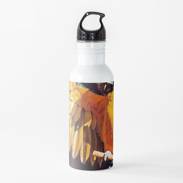 Parrot Digital Art Styles Water Bottle
