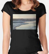 Beach Sunset Ormond Beach Women's Fitted Scoop T-Shirt