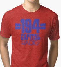 NDVH Capital Radio (1) - blue print Tri-blend T-Shirt