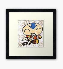 PowerPuff Aang Framed Print