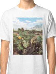 Superstitious Arizona Desert Mountain Cactus Bloom Classic T-Shirt