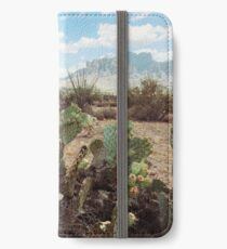 Superstitious Arizona Desert Mountain Cactus Bloom iPhone Wallet/Case/Skin