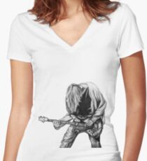 Negative Creep Women's Fitted V-Neck T-Shirt