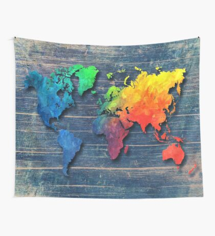 World map special 8 Wall Tapestry