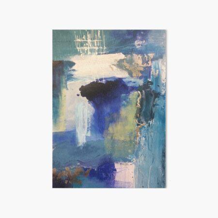 Blue Art Board Print