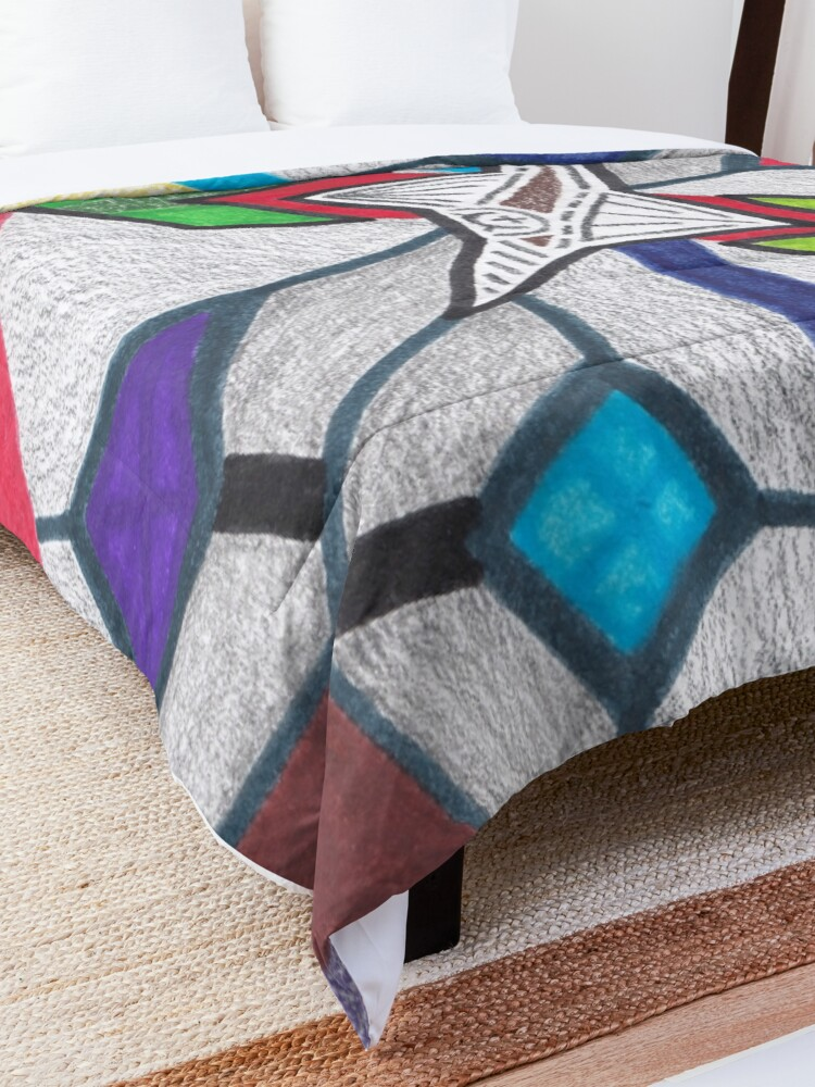 Alternate view of M.I. #8 |☽| Glass Stained Abstract Pane. Comforter