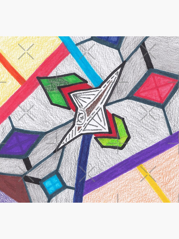 M.I. #8  ☽  Glass Stained Abstract Pane. by Naean