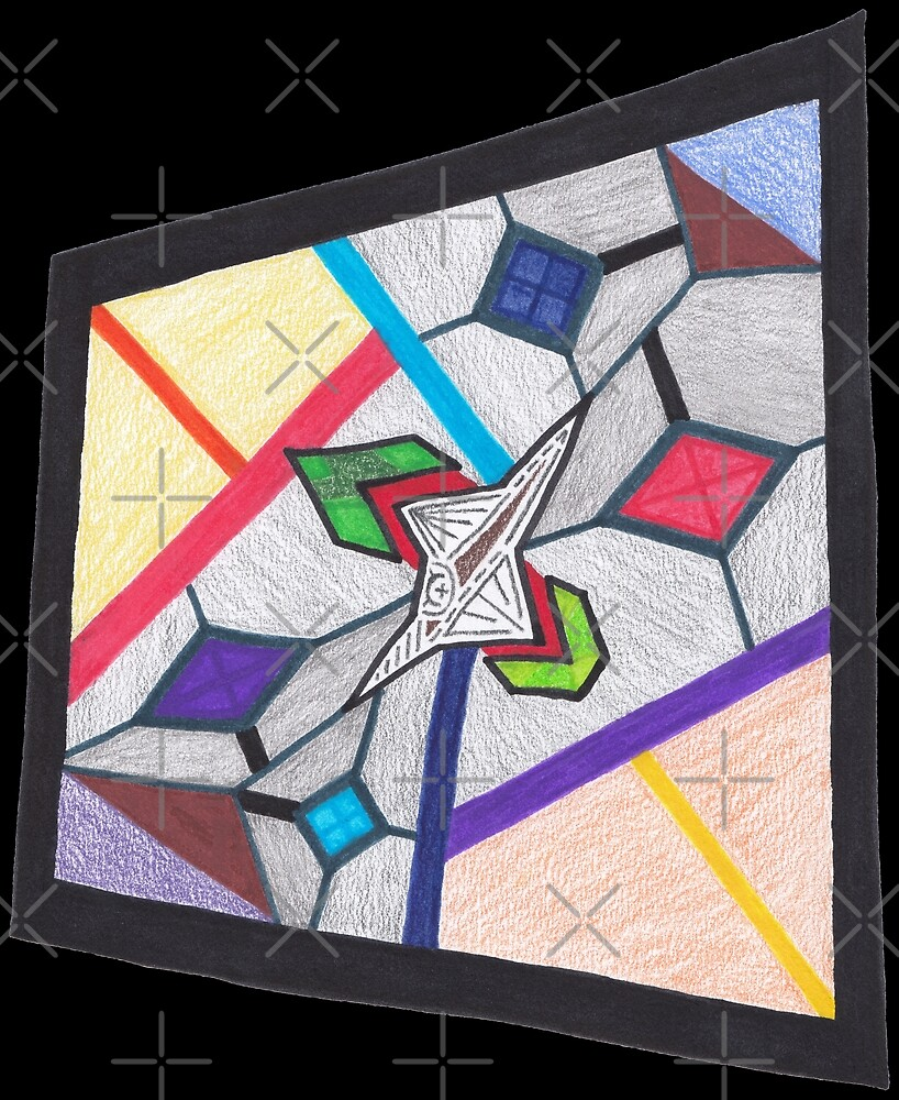 M.I. #8 |☽| Glass Stained Abstract Pane. by Naean