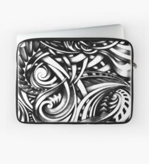 Escher Like Hand Drawn Artistic Grey Depth Zen Doodle Laptop Sleeve