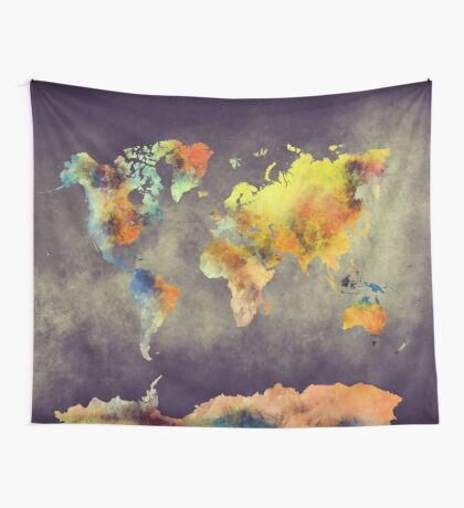 World map 2077 Wall Tapestry