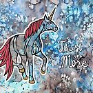 Trust in More. Magical Unicorn Watercolor Illustration. by mellierosetest