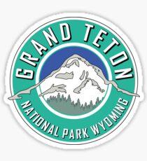 GRAND TETON NATIONAL PARK WYOMING 1929 HIKING CAMPING CLIMBING MOUNTAINS TEAL Sticker