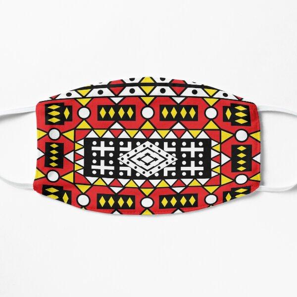 African pattern wax design Kizomba Samakaka Ankara print Angola Flat Mask