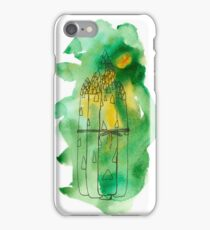 Asparagus watercolor drawing. iPhone Case/Skin
