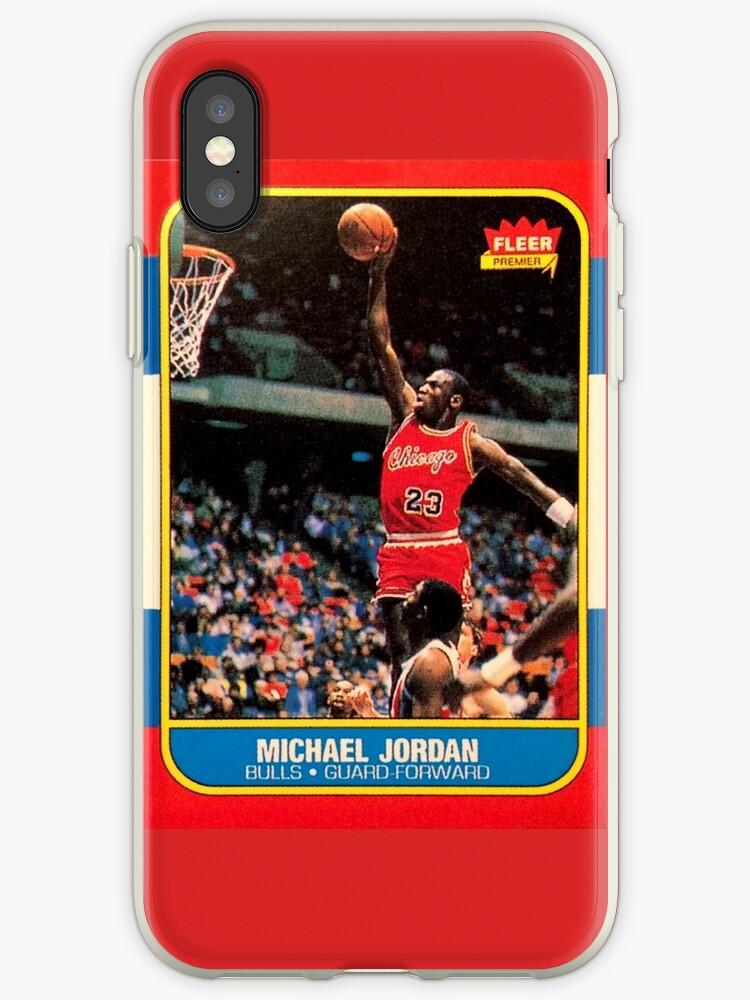 Michael Jordan Chicago Bulls Nba Basketball Rookie Card Iphone Case By Hackeycard