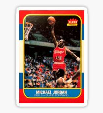 Michael Jordan Chicago Bulls NBA Basketball Rookie Card Sticker