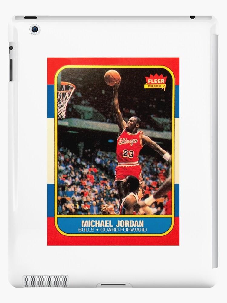 Michael Jordan Chicago Bulls Nba Basketball Rookie Card Ipad Caseskin By Hackeycard