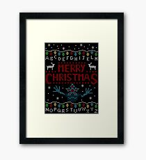 MERRY CHRISTMAS FROM THE UPSIDE DOWN! Framed Print