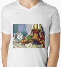 Still Life With Copper Cup Men's V-Neck T-Shirt
