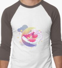 skitty snoozing Men's Baseball ¾ T-Shirt