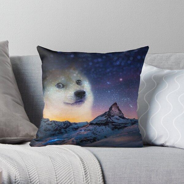 Doge sky Throw Pillow