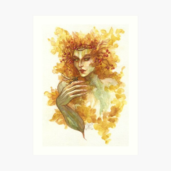 Tree wife Art Print