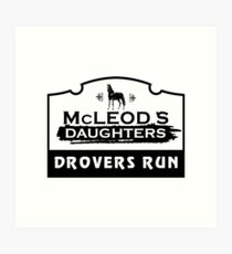 McLeod's Daughters Drovers Run Art Print